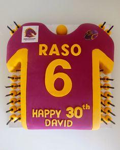 Brisbane broncos birthday cakes Pinterest Brisbane Cowboy