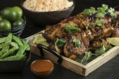 Comfort cooking calls for spicy heat. Find it in these Thai-style grilled ribs - Chicago Tribune Pork Loin Ribs, Pork Ribs Grilled, Beef Ribs, Sirloin Steaks, Beef Steak, Bbq Beef, Peanut Satay Sauce, Carrot Slaw, Chicken Satay