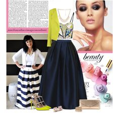 """""""Midi Skirt"""" by jamilia-wallace on Polyvore"""