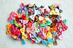 10/20/30pcs New Various Style Pet Dog Bows Pet Hair Bows Rubber Bands Dog Bow Grooming Supplies Wholesale
