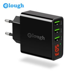 Get Best Price Elough 3 Port USB Charger Adapter For iPhone Samsung S8 Mobile Phone LED Display EU US Plug 2.4A Smart Fast Charge Wall Charger #Elough #Port #Charger #Adapter #iPhone #Samsung #Mobile #Phone #Display #Plug #2.4A #Smart #Fast #Charge #Wall