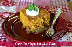 Crock Pot Apple Pumpkin Cake ~ Mommy's Kitchen{6 hours}