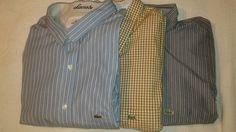 Lot 3 Lacoste Mens L/S Button Front Shirts 3XLT 4XLT 4XL