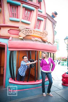 Disneyland Toon Town Engagement Photo Session