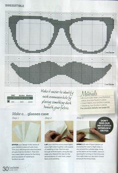 Glasses & moustache - Cross stitch
