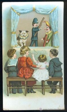 NUMULITE 366 Cromo antiguo o tarjeta de Galletas y Bizcochos Viñas y Compañia Titeres niños teatro - Foto 1
