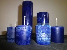 Marine Blue Handmade Votives by OrzoValentine on Etsy Memorial Day Sale 25% off with coupon code MDBBQ