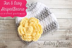 Adorable hat pattern! Use code PIN15 for 15% off all Daisy Cottage Designs patterns through Saturday 1.18.14!