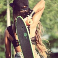 Longboarding girl.