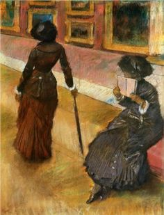 Mary Cassatt at the Louvre - Edgar Degas