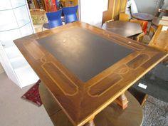 Schiefer Tisch mit eingelegtem Muster und Schublade bei HIOB Emmen  #Schnäppchen #Trouvaille