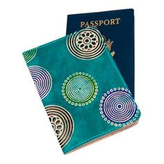 Soft & Colorful Embossed Genuine Leather Passport Cover https://sitaracollections.com/collections/travel-accessories/products/cruelty-free-leather-passport-cover-blue-circles