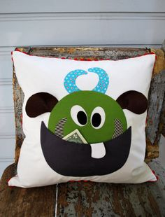 Sneek Peek: Monster Tooth Fairy Pillow | The Piper's Girls