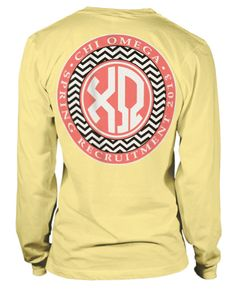 Chevrons and Monograms in Phi Sigma Sigma!