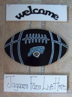 New Jacksonville Jaguars Football Welcome Sign 15.99 Jacksonville Jaguars  Football 6c4fed052