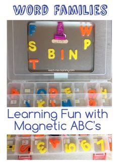 Word Families Magnetic ABC's Learning Fun