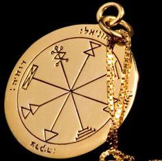 Kabbalah-King-Solomon-1-Pentacle-of-Venus-Gold-Silver-Pendant-Profusion-Success