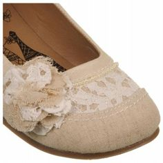 JELLYPOP Women's Rope   Shoes with pearls, lace, and burlap look-a-like material, love!!