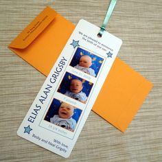 Birth Announcement  Photo Booth Film Strip by ColorBirdStudio