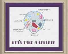 Let's take a cellfie: funny cell biology cross-stitch pattern