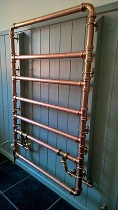 Gorgeous copper towel rail More