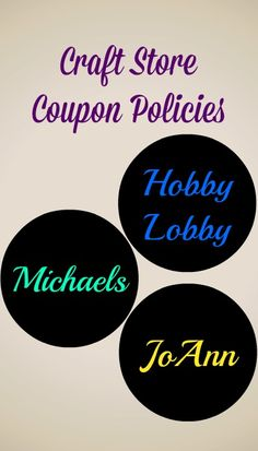 Store Coupon Policies: Michaels, JoAnn & Hobby Lobby Learn all about how to coupon in a craft store!Learn all about how to coupon in a craft store! Ways To Save Money, Money Tips, Money Saving Tips, Money Savers, Michaels Craft, Michaels Coupon, Hobby Lobby Crafts, Store Coupons, Grocery Coupons