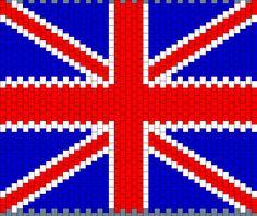 Britain Flag Panel For Bag Bead Pattern | Peyote Bead Patterns | Misc Bead Patterns