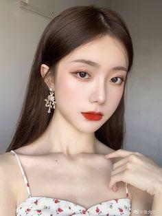 Korean Girl Photo, Cute Korean Girl, Asian Girl, Big Nose Girl, Cute Girl Face, Makeup Korean Style, Asian Makeup, Korean Beauty Girls, Asian Beauty