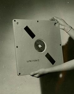 Univac 9000 Series disk cartridge prototype with a 2.2 MB capacity  1966