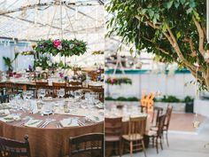 Rustic Tables + Reception Area | Photography: Lauren Fair Photography
