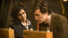 Meera Syal and Matt Smith in Doctor Who (2005)