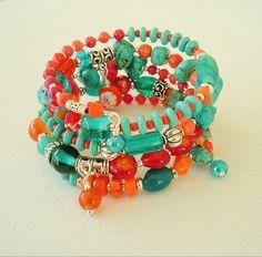 Boho Southwest Bracelet Bohemian Jewelry Turquoise by BohoStyleMe