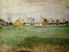 Berthe Morisot Landscape at Gennevilliers 1875