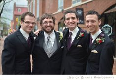 Purple and red elements for grooms and groomsmen - very classy!  Courtesy: http://www.jessicaschmittblog.com/2012/04/sara-will/