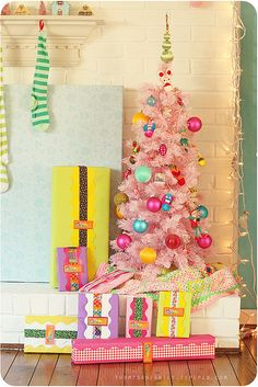 this one is pinned by five year old Julie, who really, really wants a pink Christmas tree!
