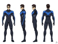 """Nightwing"" commissioned by Eric Cao. Character belongs to DC Comics. Batman Comic Art, Batman Comics, Batman And Superman, Batman Robin, Character Model Sheet, Character Modeling, Comic Character, Character Design, Character Turnaround"