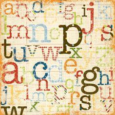 Spelling Bee 12x12 Cardstock | Simple Stories
