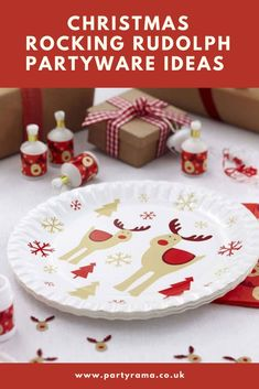Add festive plates to your Christmas table with our range of Rocking Rudolph Christmas tableware. Rudolph Christmas, Christmas Rock, Nutcracker Christmas, Christmas Scene Setters, Christmas Photo Booth Props, Snowman Party, Christmas Cake Decorations, Personalized Balloons, Christmas Crackers