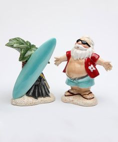 Sugar High Social Hawaii Santa Salt & Pepper Shaker - Set of Two | zulily