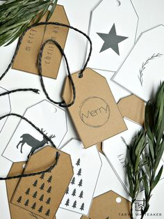 Download your own set of FREE Printable Christmas Gift Tags for this year! Simply click download and print to customize your gifts this year!
