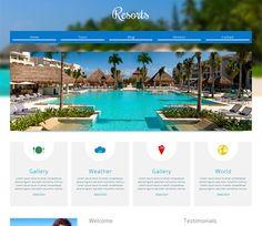 Resorts Free #Responsive #HTML5 #CSS3 #Mobileweb Template