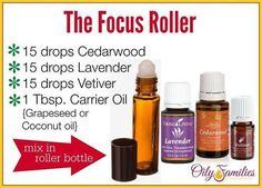 Essential Oils Focus Roller with Young Living Oils!
