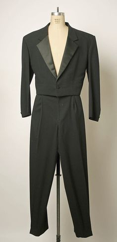 Wool and silk tuxedo by Gianni Versace, Italian, 1980s.