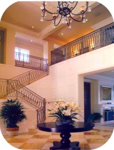 Interior Stair Railings – Avion Metal Works of Florida Iron Staircase Railing, Exterior Stair Railing, Wood Handrail, Stair Railing Design, New Homes, Florida, Metal, Interior, Home Decor