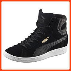 Puma Sneaker Vikky Mid Twill 361240-03 black, Veloursleder, Warmfutter, Herren Größen:37;Farben:schwarz (*Partner Link)
