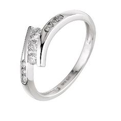 9ct white gold quarter carat diamond ring - Product number 6325076 ... wouldn't mind having this. it's beautiful.