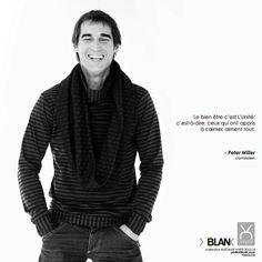 Le bien-être selon: Peter Miller - Acteur québécois Chandail et foulard BLANK
