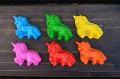Unicorn Crayons set of 20 - party favor - party supplies