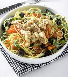 Spaghetti au thon et aux olives