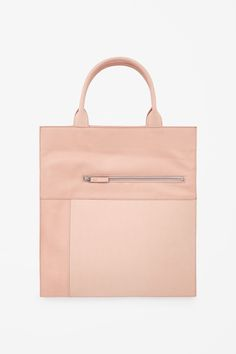 Panelled leather tote